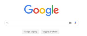 Billede af Googles forside for at illustrere en simpel brugeroplevelse